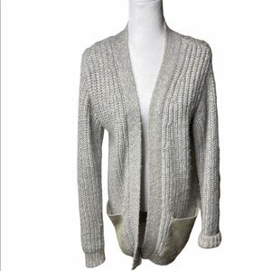 Edun Gray Alpaca Cardigan Knit Sweater Small